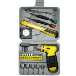 22PC Tool Set Pistol Grip Hand Ratchet Assortment Kit