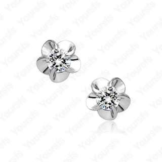18K Gold Plated Flower Pistil Swarovski Crystal Earring