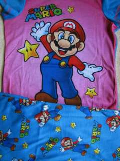 Super Mario Girls S/S Shirt /Capri Pajamas Pjs sz 10/12