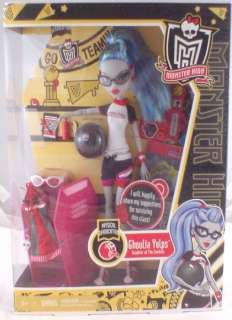NEW Monster High GHOULIA YELPS Classroom Doll Phys Dead