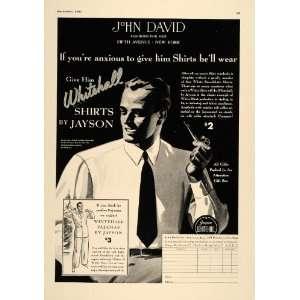 1937 Ad Whitehall Jayson John David Businessman Shirts