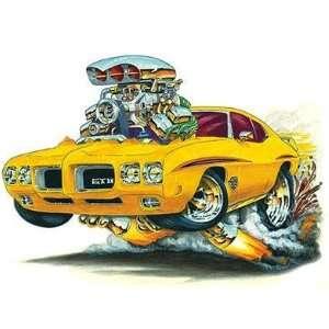 24 *Firebreather* 70 Pontiac GTO Judge cartoon Car Wall