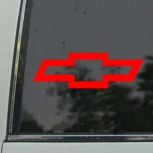 CHEVROLET CHEVY BOWTIE Red Decal Truck Window Red Sticker