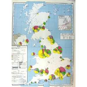 Map Britain Ireland 1963 Ports Liner Routes Airports: Home