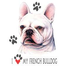 FRENCH BULLDOG fabric panel & paws fabric panel