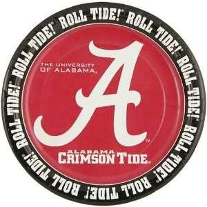Alabama Crimson Tide 8 Pack Paper Plates Sports