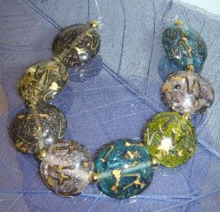 CONFETTI PARADE GLASS LAMPWORK BEADS COLORFUL LENTIL