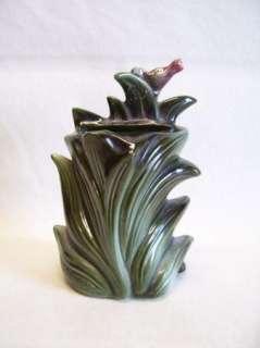 VTG Hull Giraffe Planter/Vase #115 W/Gold/Paint/Trim