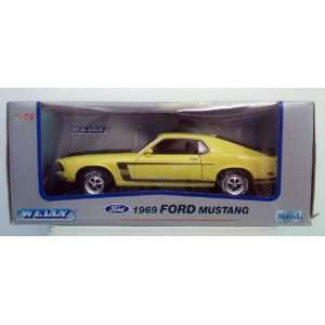 1969 Boss 302 Ford Mustang Yellow Diecast 118 Toys