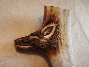 KNIFE HANDLE CARVED 3 D WOLF HEAD NEW CARVING! FREE SHIPPING!!!