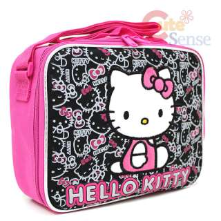 Hello Kitty School Roller Backpack Lunch Bag Face outlines 6