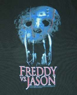 Freddy vs Jason Movie Mask & Claws T Shirt Size Large
