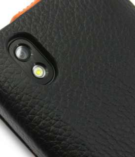 Premium Leather Case for LG Optimus Black P970 Jacka/Black Orange LC