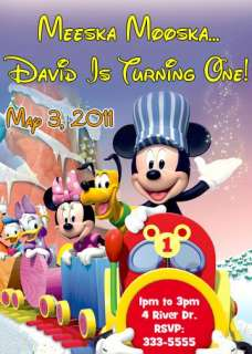 MICKEY MOUSE & MINNIE MOUSE BIRTHDAY PARTY INVITATIONS