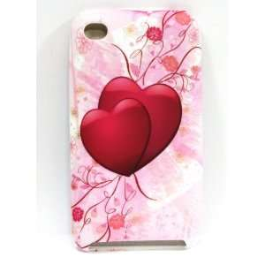 Pink Heart Flower Silicone Rubber Skin Case Cover for iPod Touch 4G