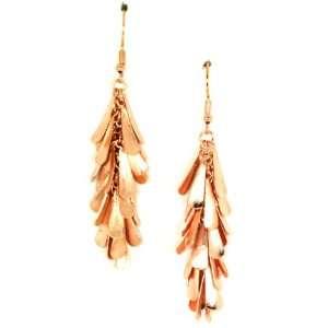 Creative Brazil Rose Gold Plated Fringe Dangle Earrings Jewelry