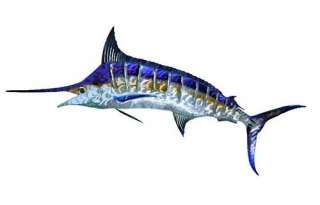 New MARLIN METAL WALL ART Tropical Ocean Fishing Decor Beach Fish
