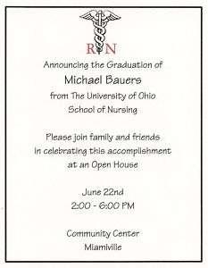 10 RN Nursing Graduation Party Invitations Personalized