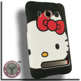 Case for HTC EVO 4G Hello Kitty Cover Skin Rubberized Hard Plastic