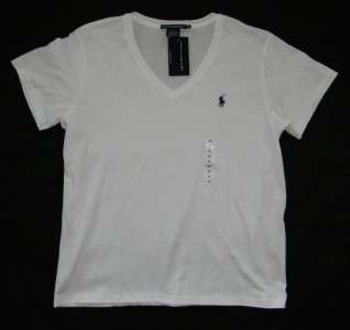 Polo Ralph Lauren Sport womans size XL extra large white V neck T