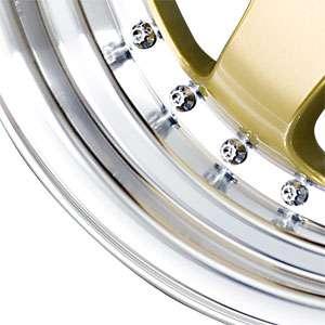 New 15X7 4 100 DRAG Gold Machined Lip Wheel/Rim