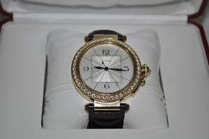 Cartier Pasha Diamond 18kt Yellow Gold Watch 42mm