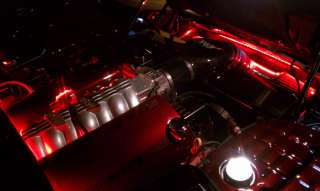 Red 45 LED(10Pod)+SWITCH SET ACCENT Light Kit For Any MOTORCYCLE/CAR