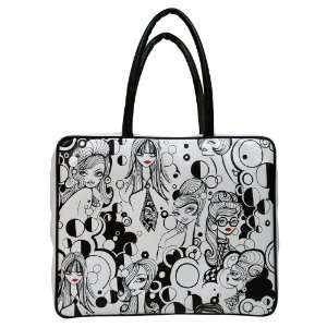 Mod Black & White Glamour Fashion Girls Laptop Bag