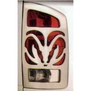 2002 05 Dodge Ram Big Horns Chrome Taillight Covers