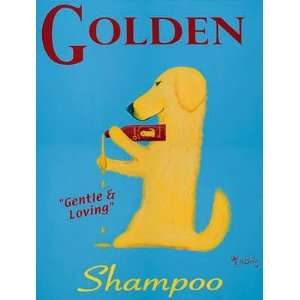 Golden Dog Shampoo   Original Painting by Ken Bailey