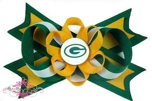Green Bay Packers Hair Bow on a Headband Baby NFL