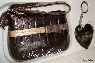 Guess Wristlet Hand bag Wallet Coin bag Purse Key Chain Handbag