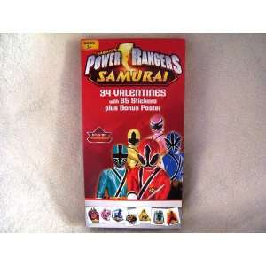 Sabans Power Rangers Samurai 34 Valentines with 35