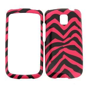 LG Optimus T P509 (T Mobile) PINK ZEBRA COVER CASE Hard