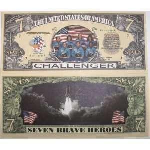 Set of 5 Bills Challenger Space 7 Dollar Bill Toys & Games