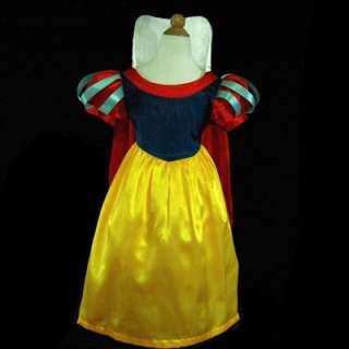 6188USA7 Amazing Snow White Princess Girls Dress Sz 5 6