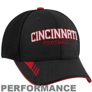 adidas Cincinnati Bearcats Black Player Mesh Back Flex Fit Performance