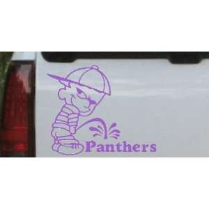 Pee On Panthers Car Window Wall Laptop Decal Sticker    Purple 10in X