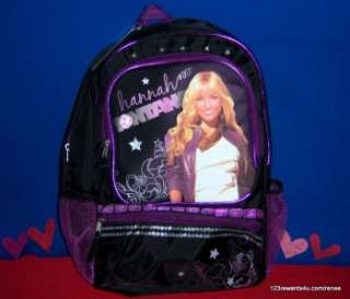Disney Hannah Montana Backpack, NWT 16 Full Size NEW