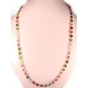 7x6mm Oval Shape with Peridot Natural Crystal Bead Necklace Jewelry