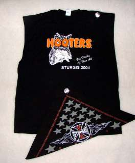 HOOTERS BANDANA STURGIS BIG DADDY BIKER T SHIRT XXL from harley