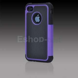 Purple Combo Rubber defender Hard Case Cover+Stylus+Screen Film