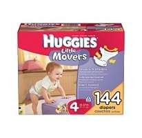 Huggies   Little Movers Diapers, Size 4 (22 37 lbs.), 144 ct |