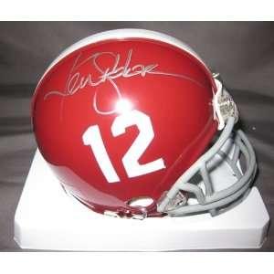 Ken Stabler Autographed/Hand Signed Alabama Mini Helmet