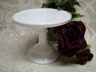 White Milk Glass Pedestal Stackable/Tier Cake Plate