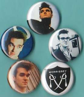 Morrissey Set of 5 Pins buttons Badges smiths