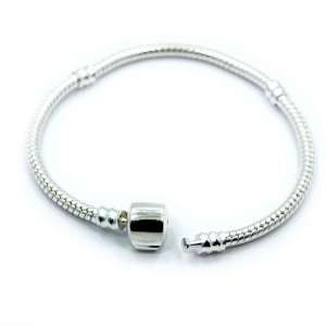 )Beautiful Silver Plated Snake Chain Classic Bead