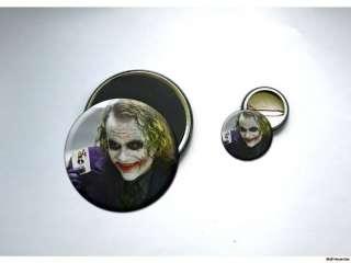 JOKER Heath Ledger BATMAN Button and Magnet Set