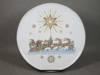 VINTAGE H & Co HEINRICH SELB BAVARIA CHRISTMAS SANTA SLEIGH PLATE