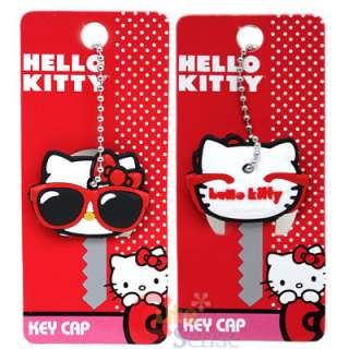 Sanrio Hello Kitty Key Cap Oversize Sunglasses Rubber Key Cap by